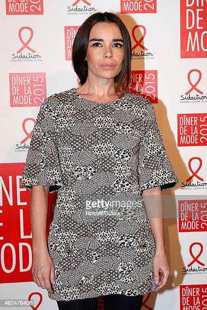 Actress Elodie Bouchez attends the Sidaction Gala Dinner 2015 at Pavillon d'Armenonville on January 29 2015 in Paris France