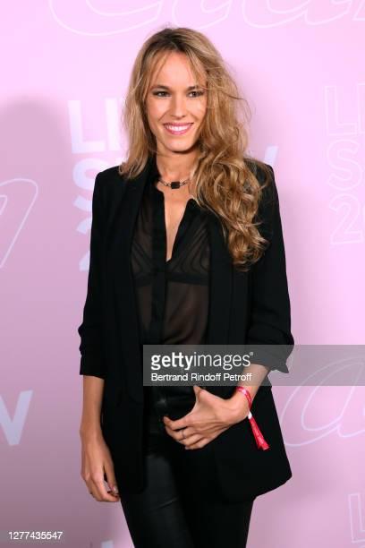 Actress Elodie Fontan attends the Etam Live Show - Womenswear Spring/Summer 2021 show as part of Paris Fashion Week on September 29, 2020 in Paris,...