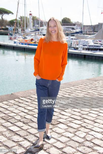 Actress Elodie Frenck attends Petits Meutres d'Agatha Christie Photocall during 19th Festival Of TV Fiction on September 14 2017 in La Rochelle France
