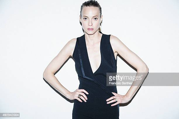 Actress Elodie Frenck is photographed for Self Assignment on June 18 2015 in Paris France