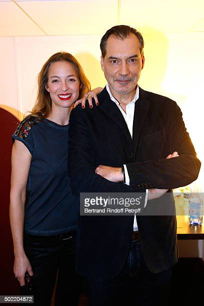 Actress Elodie Frenck presents the TV Series 'Cherif' and Actor Samuel Labarthe presents the TV Series Les Petits Meurtres d'Agatha Christie during...