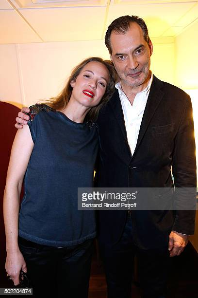 """Actress Elodie Frenck presents the TV Series 'Cherif' and Actor Samuel Labarthe presents the TV Series """"Les Petits Meurtres d'Agatha Christie"""" during..."""