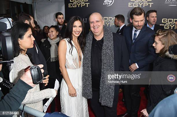 Actress Elodie Yung and Director Alex Proyas attend the 'Gods Of Egypt' New York Premiere at AMC Loews Lincoln Square 13 on February 24 2016 in New...