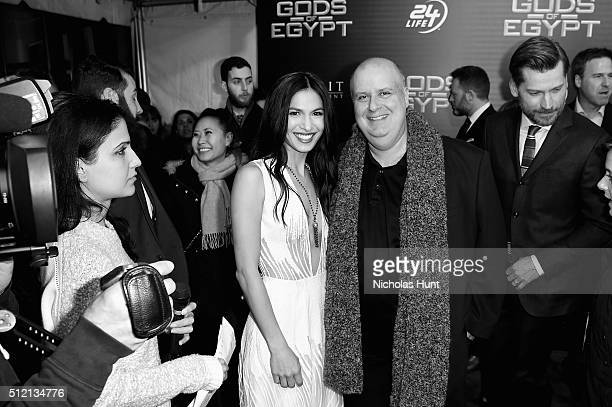 Actress Elodie Yung and Director Alex Proyas attend the Gods Of Egypt New York Premiere at AMC Loews Lincoln Square 13 on February 24 2016 in New...