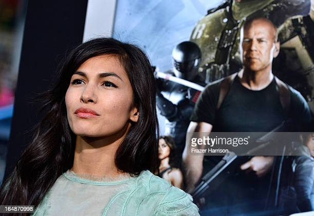 Actress Elodie Yung arrives at the premiere of Paramount Pictures' 'GI Joe Retaliation' at TCL Chinese Theatre on March 28 2013 in Hollywood...