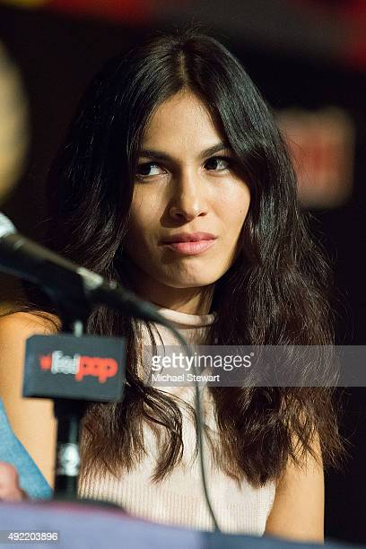 Actress Elodie Yung attends Marvel's 'Daredevil' panel during New York ComicCon Day 3 at The Jacob K Javits Convention Center on October 10 2015 in...