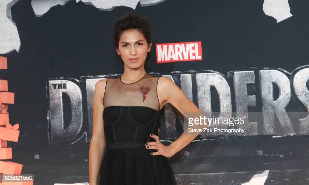 Actress Elodie Yung attends 'Marvel's The Defenders' New York premiere at Tribeca Performing Arts Center on July 31 2017 in New York City