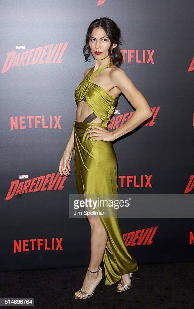 Actress Elodie Yung attends the 'Daredevil' season 2 premiere at AMC Loews Lincoln Square 13 theater on March 10 2016 in New York City