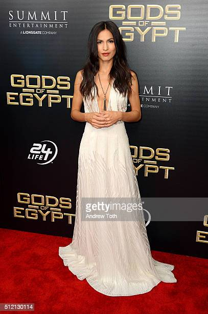 Actress Elodie Yung attends the 'Gods Of Egypt' New York City premiere at AMC Loews Lincoln Square 13 theater on February 24 2016 in New York City