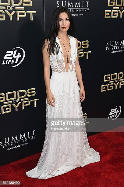Actress Elodie Yung attends the Gods Of Egypt New York Premiere at AMC Loews Lincoln Square 13 on February 24 2016 in New York City