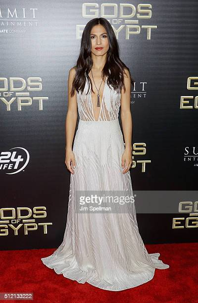Actress Elodie Yung attends the 'Gods Of Egypt' New York premiere at AMC Loews Lincoln Square 13 on February 24 2016 in New York City
