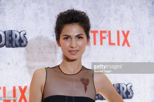 Actress Elodie Yung attends the Marvel's The Defenders New York premiere at Tribeca Performing Arts Center on July 31 2017 in New York City