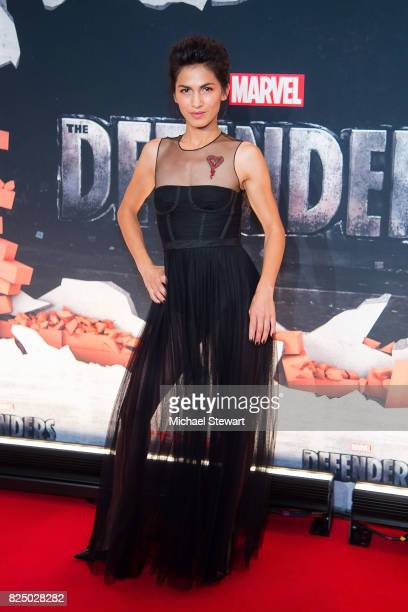 Actress Elodie Yung attends the 'Marvel's The Defenders' New York premiere at Tribeca Performing Arts Center on July 31 2017 in New York City