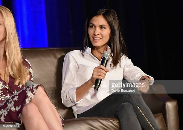 Actress Elodie Yung speaks onstage during Wizard World Comic Con Chicago 2016 Day 4 at Donald E Stephens Convention Center on August 21 2016 in...