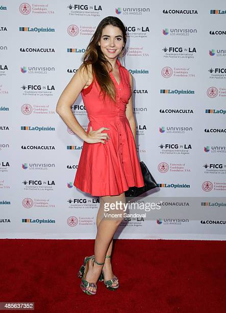 Actress Eloisa Maturen attends the opening night gala of The Guadalajara International Film Festival at the Egyptian Theatre on August 28 2015 in...