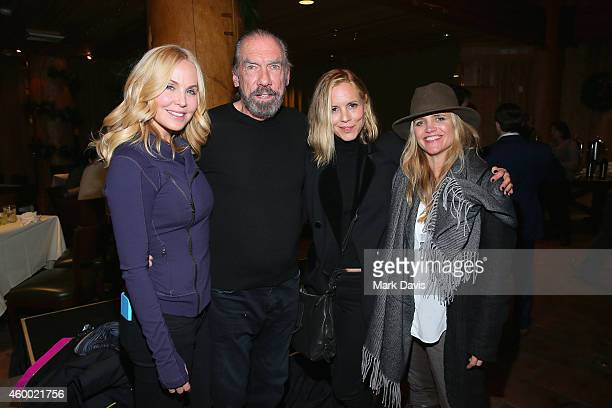 Actress Eloise Broady John Paul DeJoria actress Maria Bello and Clare Munn attend the Deer Valley Celebrity Skifest held at the Empire Lodge on...