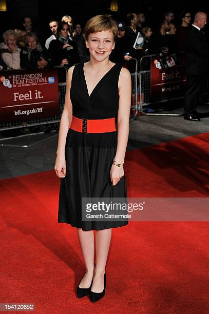 Actress Eloise Laurence attends the premiere of 'Broken' during the 56th BFI London Film Festival at Odeon West End on October 14 2012 in London...