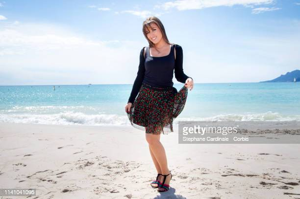 Actress Elsa Esnoult attends 'Les mysteres de l'amour' photocall on day three of the 2nd Canneseries International Series Festival on April 07 2019...
