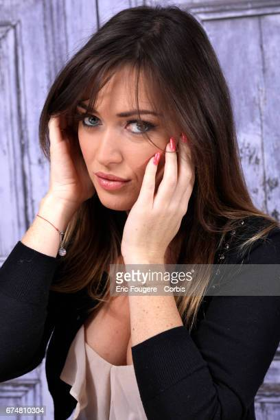 Actress Elsa Esnoult poses during a portrait session in Paris France on