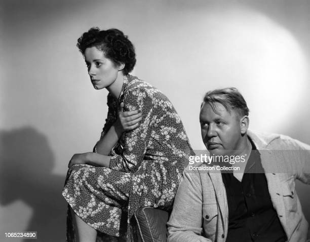 Actress Elsa Lanchester and Charles Laughton sing Baby It's Cold Outside