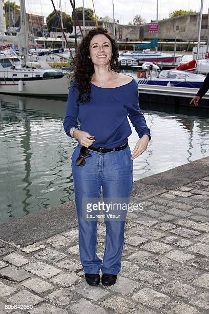 Actress Elsa Lunghini attends the 'Mon Frere Bien Aime' Photocall during the 18th Festival of TV Fiction on September 15 2016 in La Rochelle France