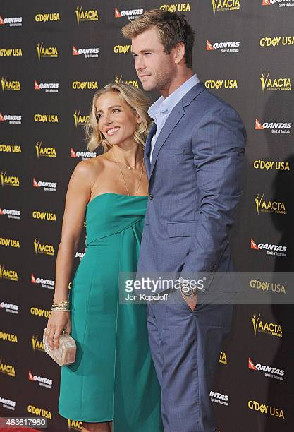 Actress Elsa Pataky and actor Chris Hemsworth arrive at the 2015 G'Day USA Gala Featuring The AACTA International Awards Presented By Quantas at...