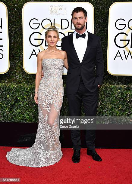 Actress Elsa Pataky and actor Chris Hemsworth attend the 74th Annual Golden Globe Awards at The Beverly Hilton Hotel on January 8 2017 in Beverly...