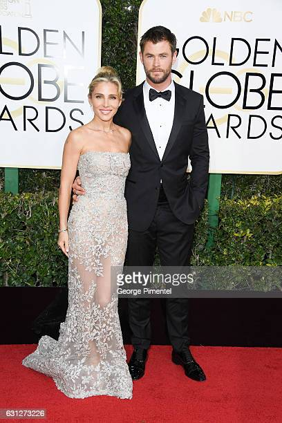 Actress Elsa Pataky and actor Chris Hemsworth attends 74th Annual Golden Globe Awards held at The Beverly Hilton Hotel on January 8 2017 in Beverly...