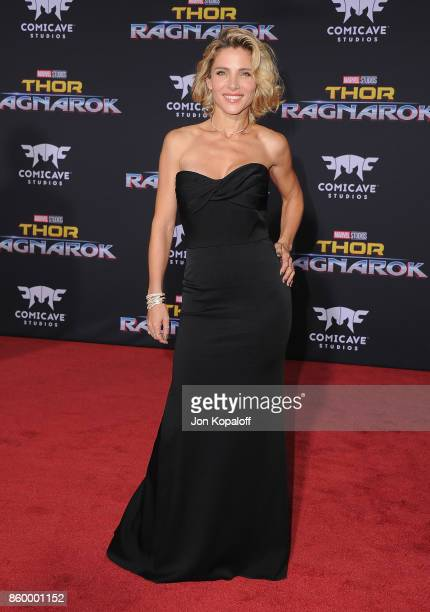 Actress Elsa Pataky arrives at the Los Angeles Premiere 'Thor Ragnarok' on October 10 2017 in Hollywood California