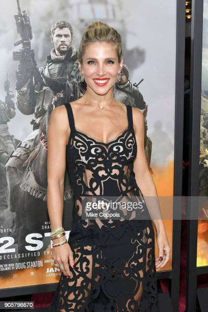 Actress Elsa Pataky attends the 12 Strong World Premiere at Jazz at Lincoln Center on January 16 2018 in New York City