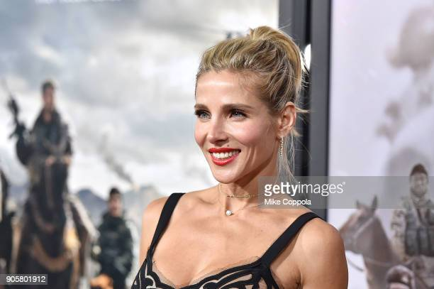 Actress Elsa Pataky attends the '12 Strong' World Premiere at Jazz at Lincoln Center on January 16 2018 in New York City