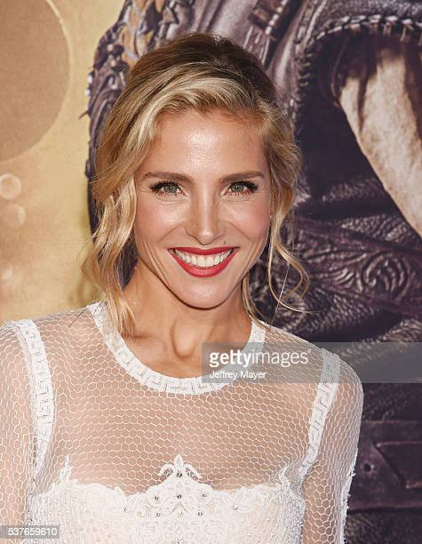 Actress Elsa Pataky attends the premiere of Universal Pictures' 'The Huntsman Winter's War' at the Regency Village Theatre on April 11 2016 in...