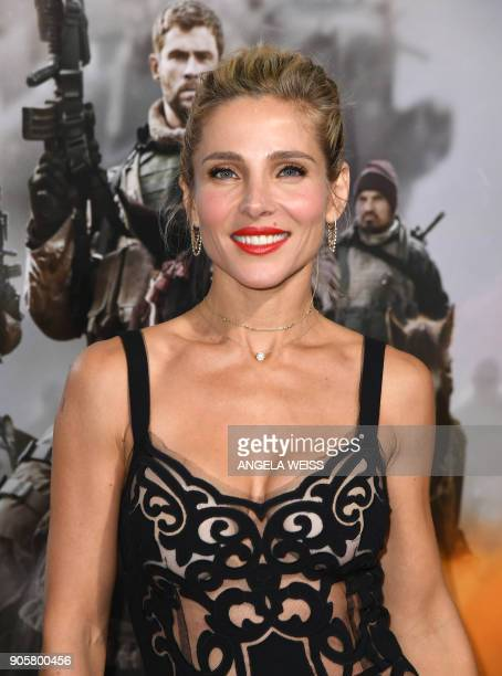 Actress Elsa Pataky attends the world premiere of '12 Strong' at Jazz at Lincoln Center on January 16 in New York City / AFP PHOTO / ANGELA WEISS