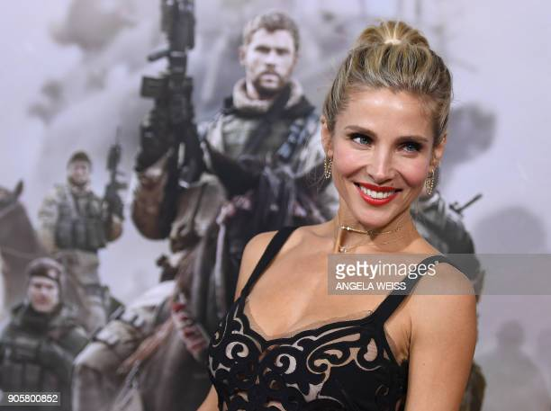 "Actress Elsa Pataky attends the world premiere of ""12 Strong"" at Jazz at Lincoln Center on January 16 in New York City. / AFP PHOTO / ANGELA WEISS"