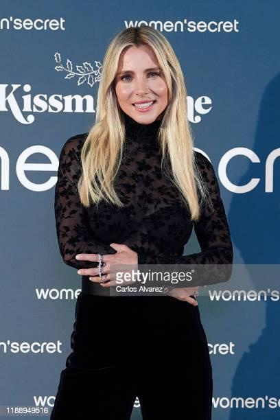 Actress Elsa Pataky presents 'KissMas Time' by Women'Secret at Santa Barbara Palace on November 20, 2019 in Madrid, Spain.