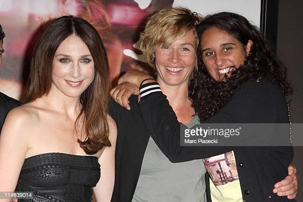 Actress Elsa Zylberstein actress Cecile de France and actress Roxane Depardieu attend the 'Un Baiser Papillon' Paris Premiere at UGC Cine Cite Bercy...