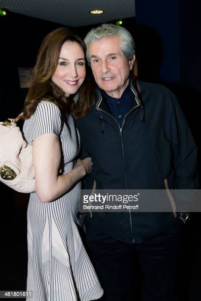 Actress Elsa Zylberstein and director Claude Lelouch pose during the premiere of 'Salaud on t'aime' directed by French director Claude Lelouch at...