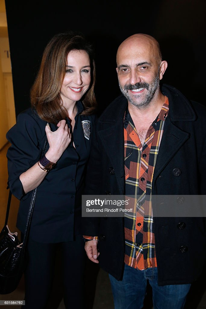 Actress Elsa Zylberstein and director Gaspard Noe attend the 'Silence' Paris Premiere at Musee National Des Arts Asiatiques - Guimet on January 12, 2017 in Paris, France.
