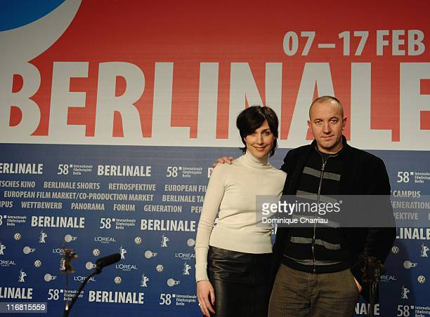 Actress Elsa Zylberstein and Director Philippe Claudel attend the 'I've Loved You So Long' photocall and press conference on day eight of the 58th...