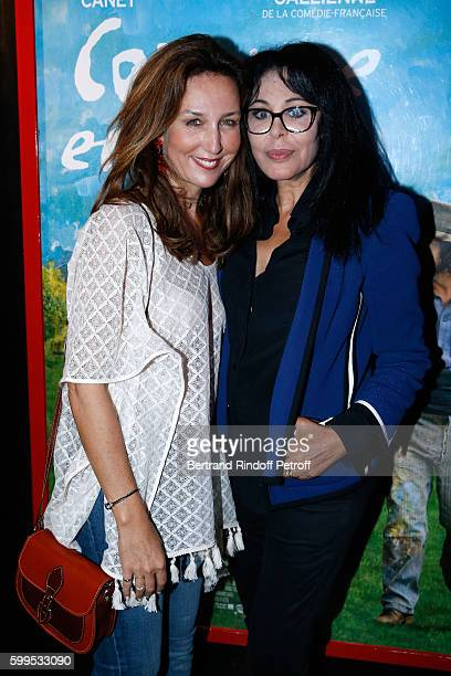 Actress Elsa Zylberstein and director Yamina Benguigui attend the 'Cezanne et Moi' Premiere on September 5 2016 in Paris France