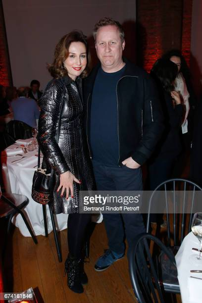 Actress Elsa Zylberstein and scriptwriter Roger Avary attend the 'pascALEjandro L'Androgyne Alchimique' Exhibition Opening at Azzedine Alaia Gallery...
