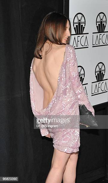 Actress Elsa Zylberstein attends the 35th Annual Los Angeles Film Critics Association Awards at InterContinental Hotel on January 16 2010 in Century...