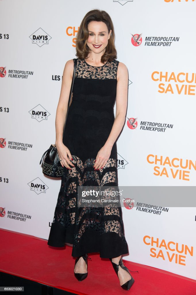 Actress Elsa Zylberstein attends the 'Chacun Sa vie' Paris Premiere at Cinema UGC Normandie on March 13, 2017 in Paris, France.