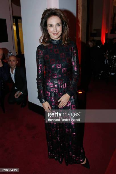 Actress Elsa Zylberstein attends the Gala evening of the PasteurWeizmann Council in Tribute to Simone Veil at Salle Pleyel on December 20 2017 in...