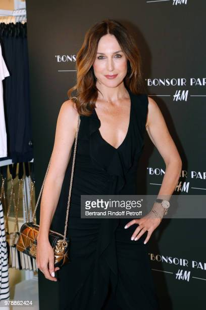 Actress Elsa Zylberstein attends the HM Flaship Opening Party as part of Paris Fashion Week on June 19 2018 in Paris France