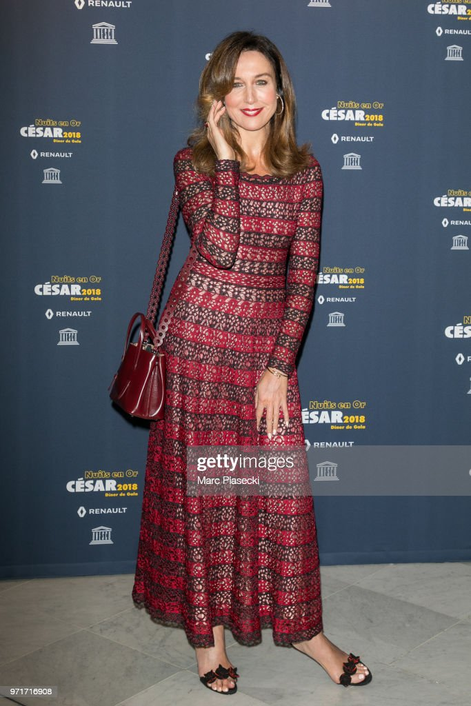 Actress Elsa Zylberstein attends the 'Les Nuits En Or 2018' dinner gala at UNESCO on June 11, 2018 in Paris, France.