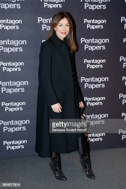 Actress Elsa Zylberstein attends the 'Pentagon Papers' Paris Premiere at Cinema UGC Normandie on January 13 2018 in Paris France