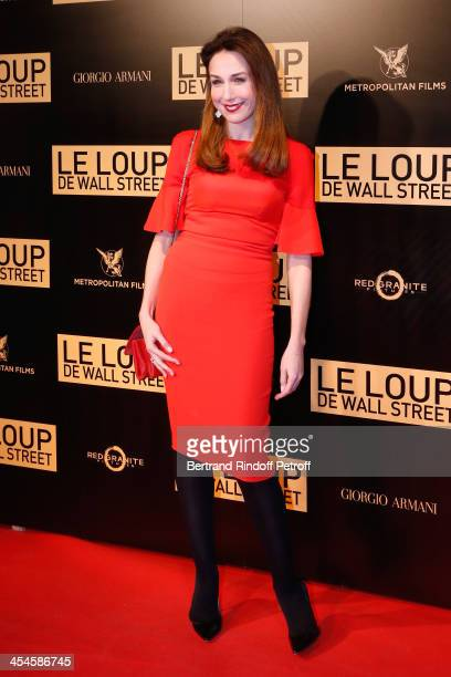 Actress Elsa Zylberstein attends the photocall before the 'The Wolf of Wall Street' World movie Premiere at Cinema Gaumont Opera on December 9, 2013...
