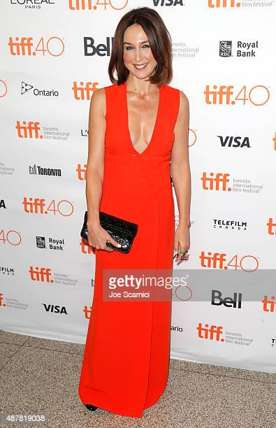 Actress Elsa Zylberstein attends the 'Un Plus Une' photo call during the 2015 Toronto International Film Festival at Winter Garden Theatre on...