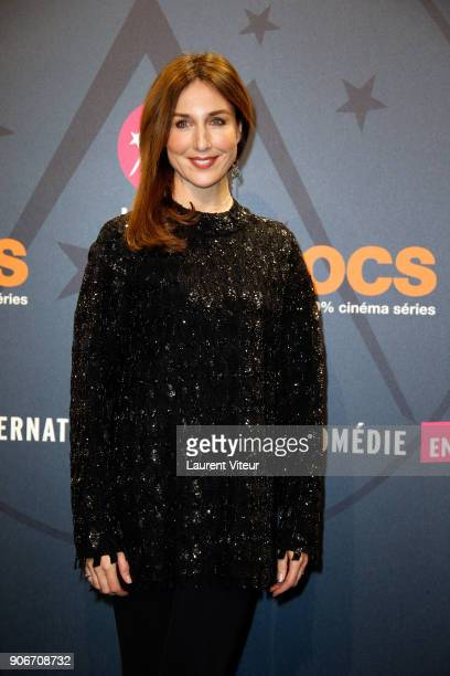 Actress Elsa Zylberstein attends 'Tout Le Monde Debout' Premiere during the 21st Alpe D'Huez Comedy Film Festival on January 18 2018 in Alpe d'Huez...